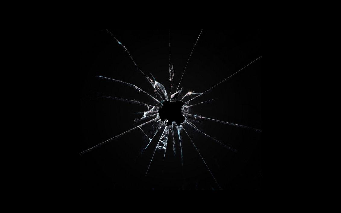 Apple broken glass wallpaper by Leconte 1131x707