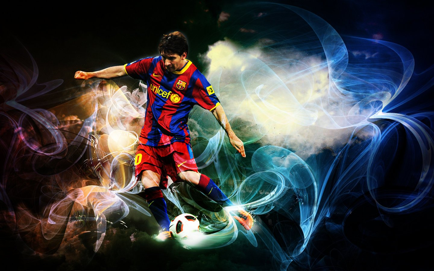 Lionel Messi FC Barcelona Wallpaper 1440x900