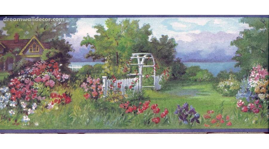 Home Blue Backyard Nature Wallpaper Border 900x500