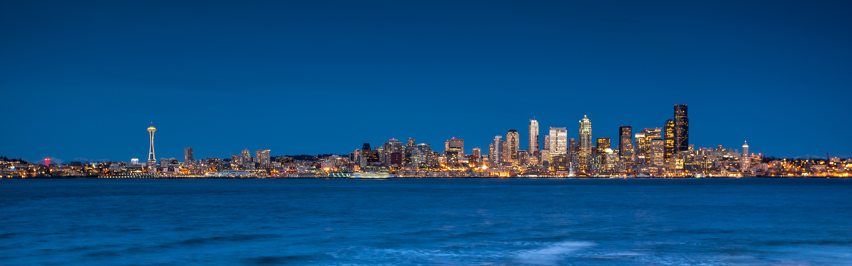 seattle from the beach by jeffery hayes april 13th 2013 seattle just 3360x1050