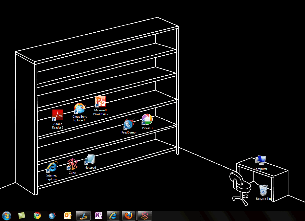 The Desktop Icons wallpaper may not be the most beautiful desktop 1233x894