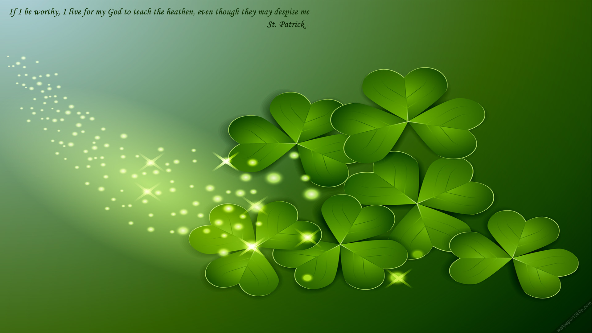 St Patrick Background Images: Pooh St Patrick's Day Wallpaper