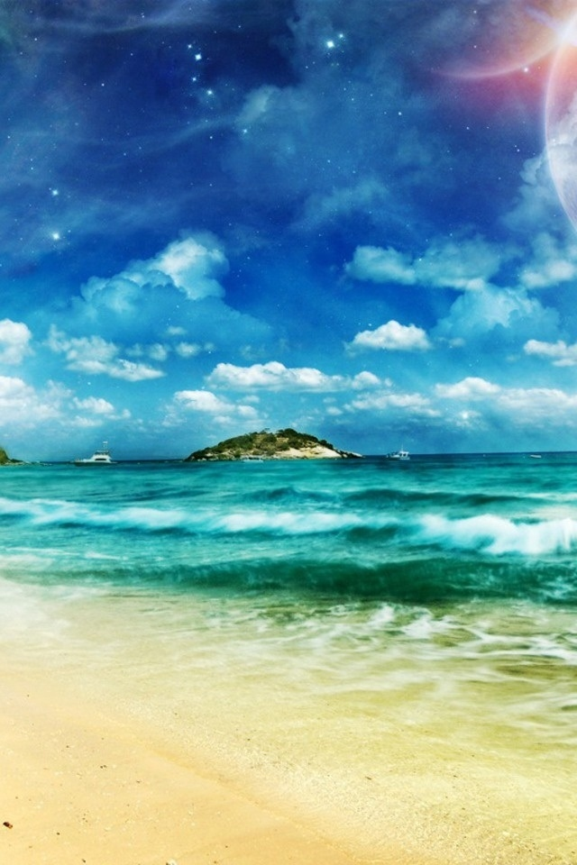 Free Download Beach Coast Iphone 4 Wallpapers 640x960 Hd