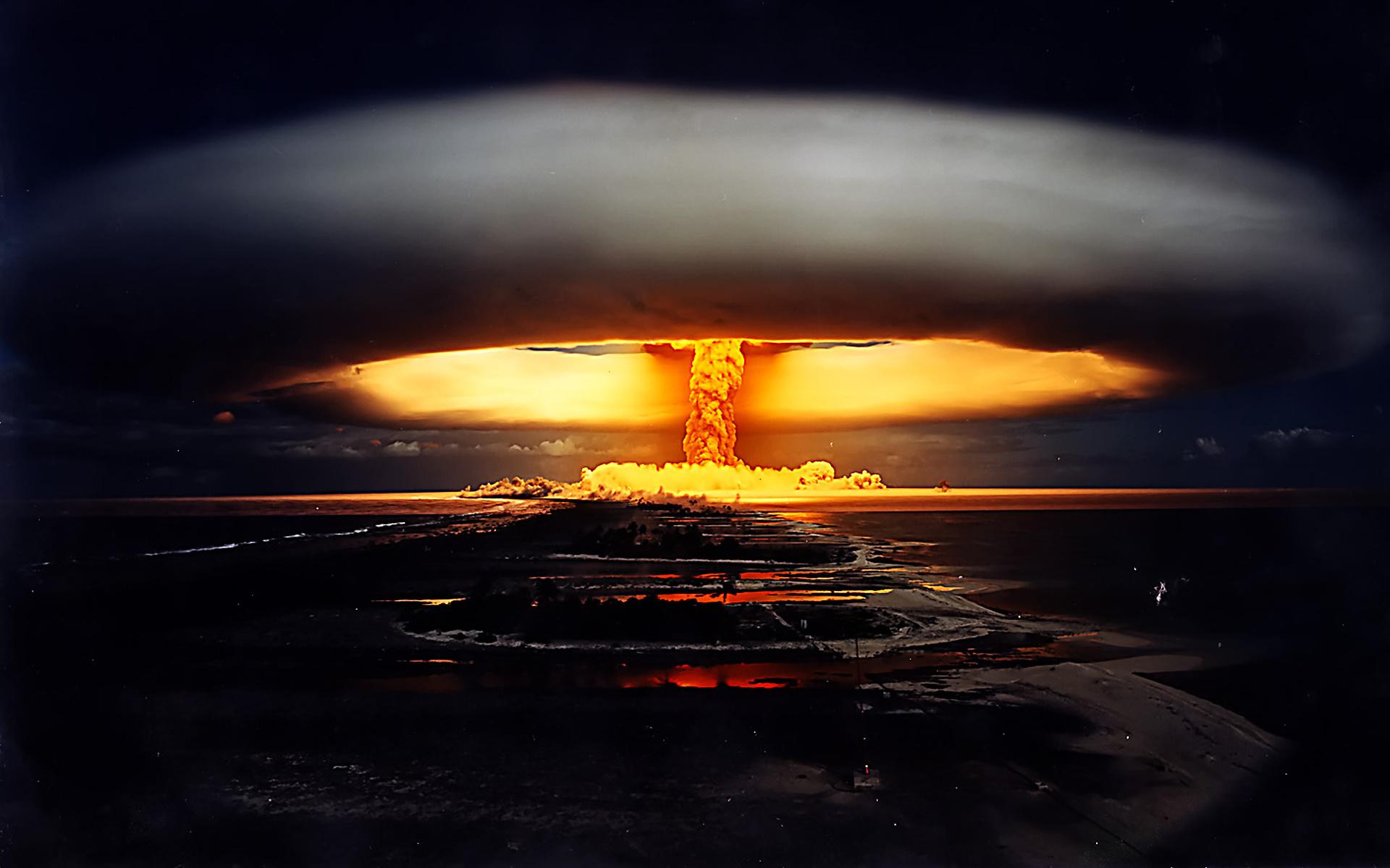 Atomic Bomb Wallpaper HD nuclear explosion night war 1920x1200