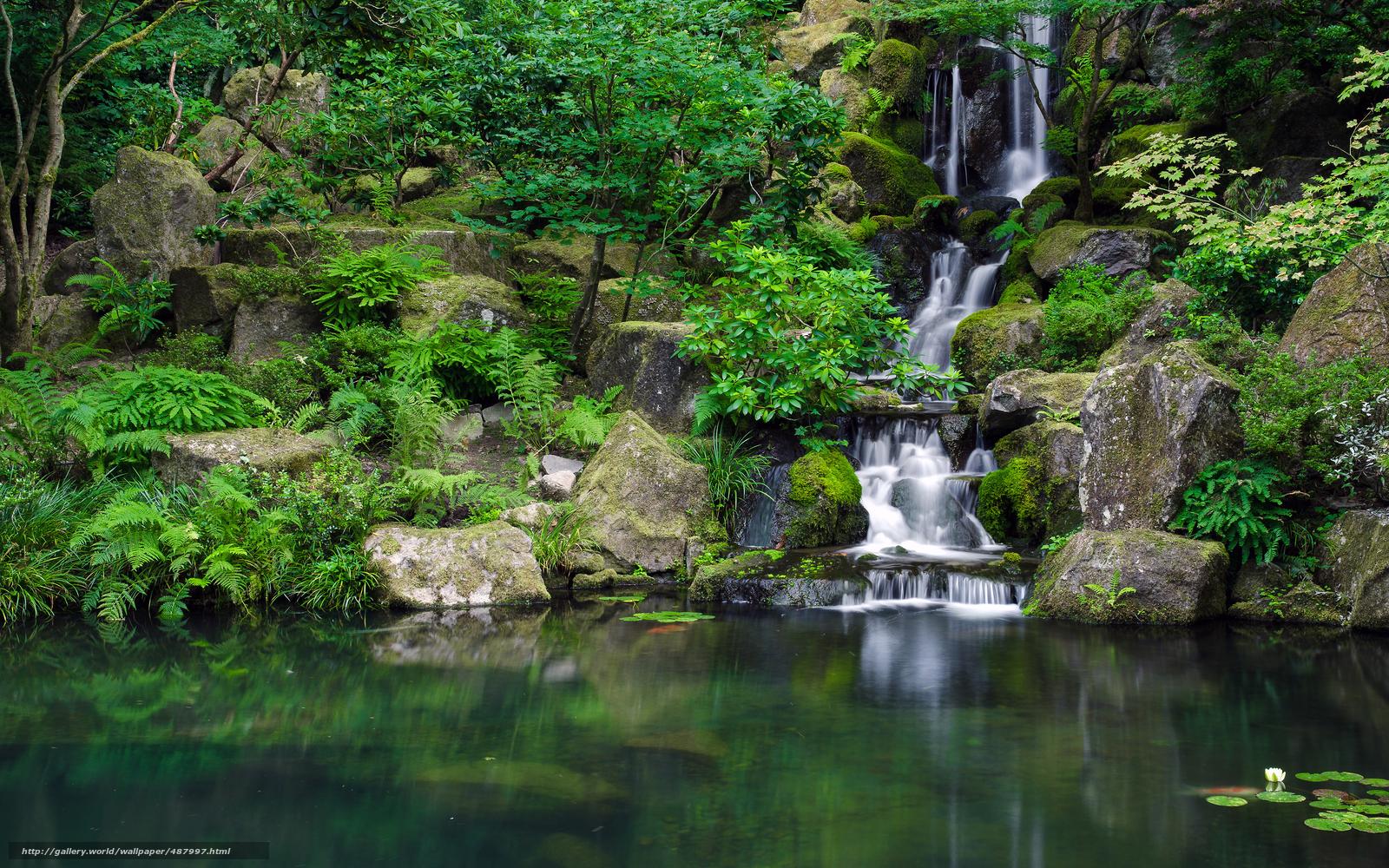 Download wallpaper Portland Japanese Garden In late summer 1600x1000