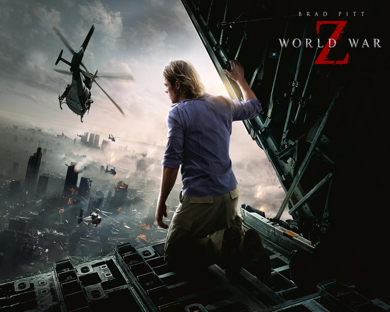 Brad Pitt World War Z Movie Wallpapers HD Wallpapers 1280x1024