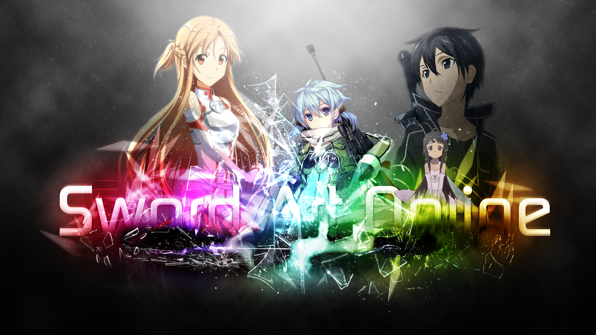 Wallpaper (Kirito, Asuna, Sinon, Yui) Computer Wallpapers, Desktop ...