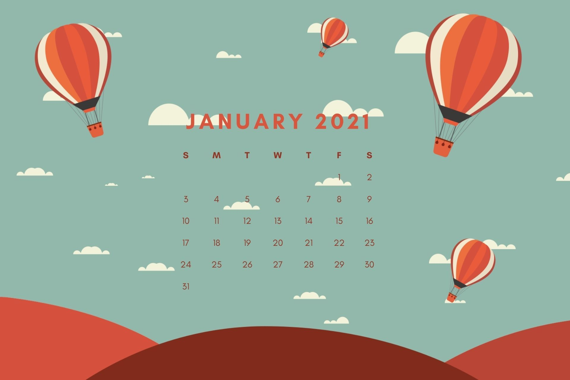 January 2021 Calendar HD Wallpaper Download Calendar wallpaper 1920x1280