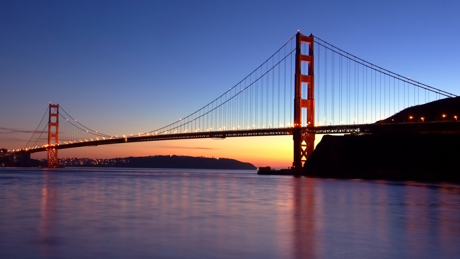 sunset bridge wallpaper 1920x1080