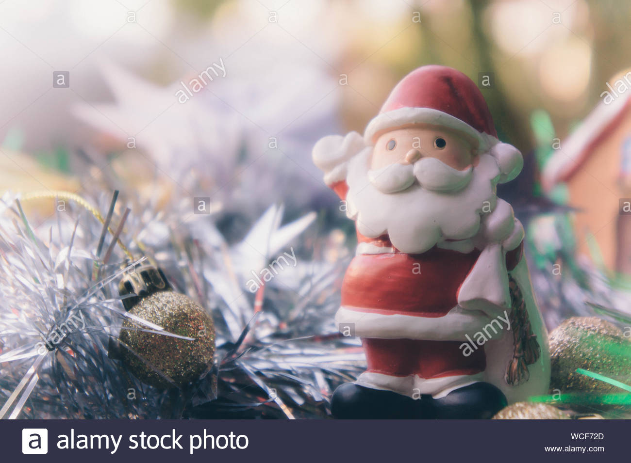 santa claus and chirstmas background Stock Photo 265866229   Alamy 1300x955