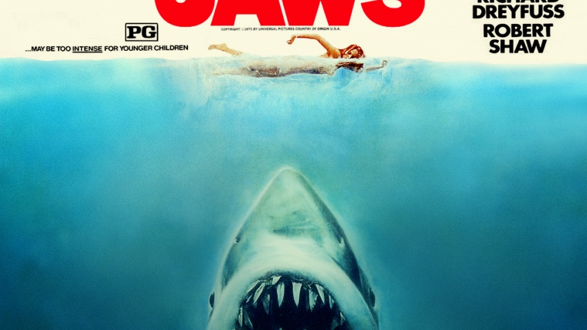 852x480 Classic Cinema Jaws desktop PC and Mac wallpaper 852x480
