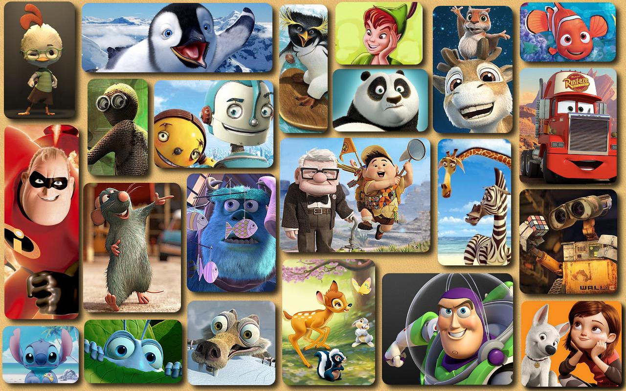 Disney Pixar Wallpaper 1280x800 Disney Pixar Collage 1280x800