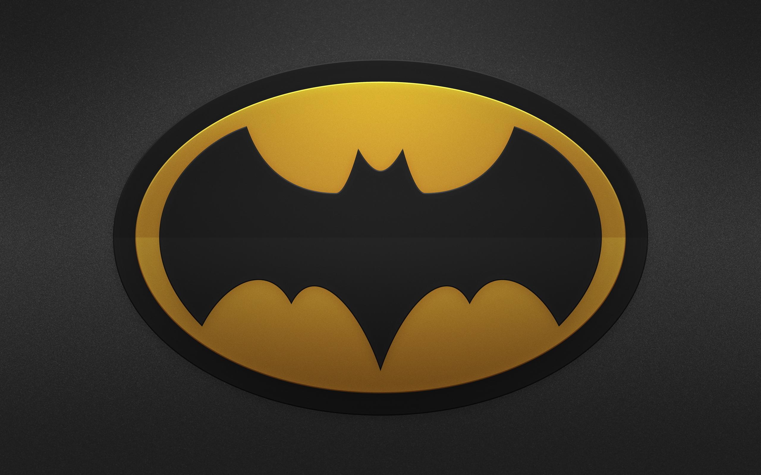 Batman Yellow Black Logo HD Wallpaper 2560x1600
