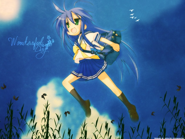 Wallpaper Wonderful day Lucky Star anime   Photos and Walls 630x473