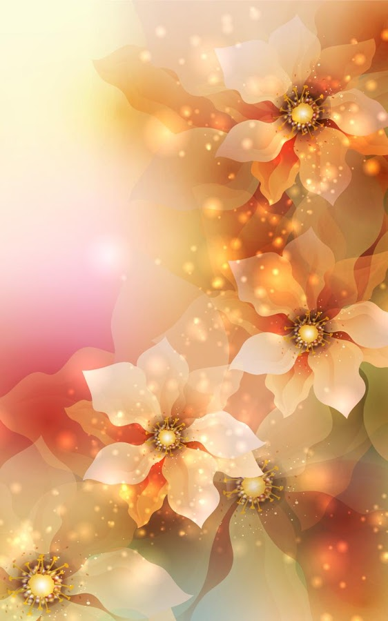 Glowing Flowers Live Wallpaper Wallpapersafari