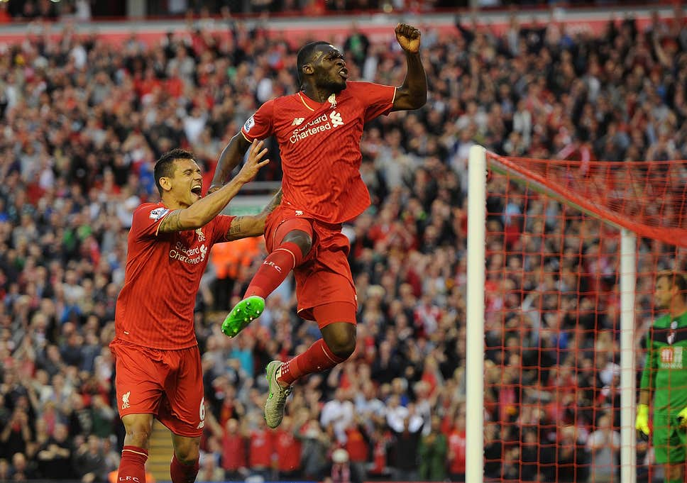 Christian Benteke scores first Liverpool goal   but it shouldnt 968x681