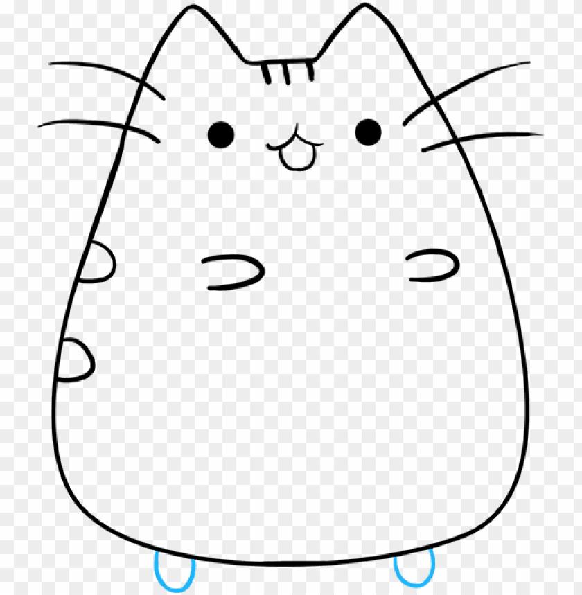 how to draw pusheen the cat   pusheen the cat drawings PNG image 840x859