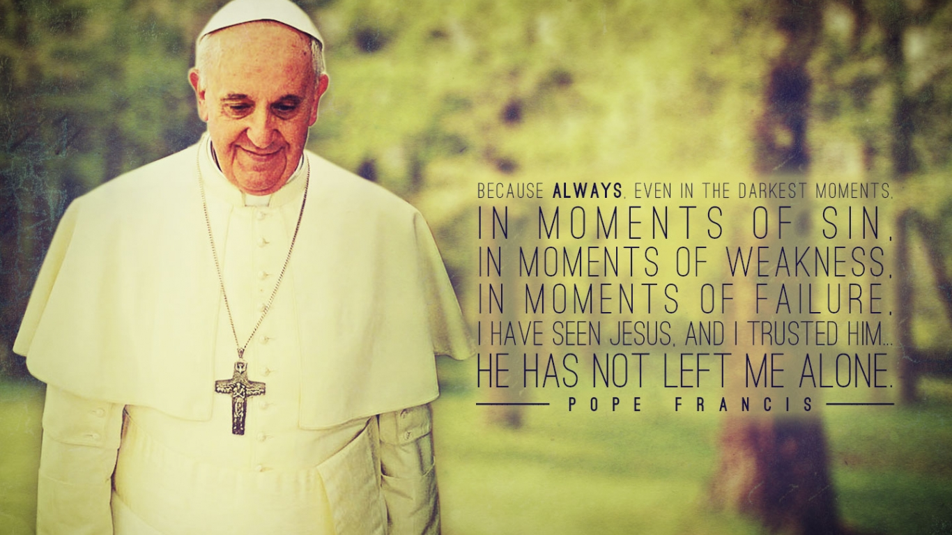 download Displaying 17 Images For Pope Francis Wallpaper 1366x768