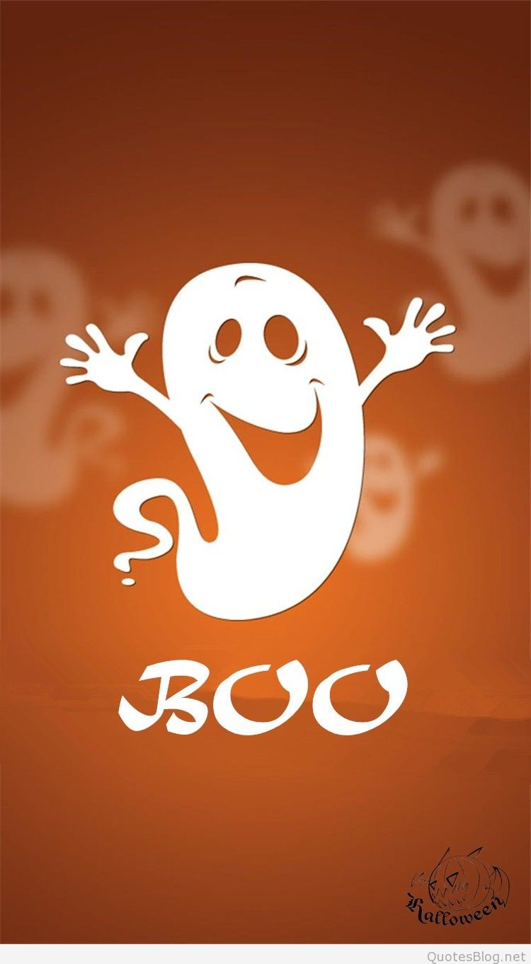 Cute Ghost Wallpaper For Iphone Happy halloween wishes quotes and 750x1362