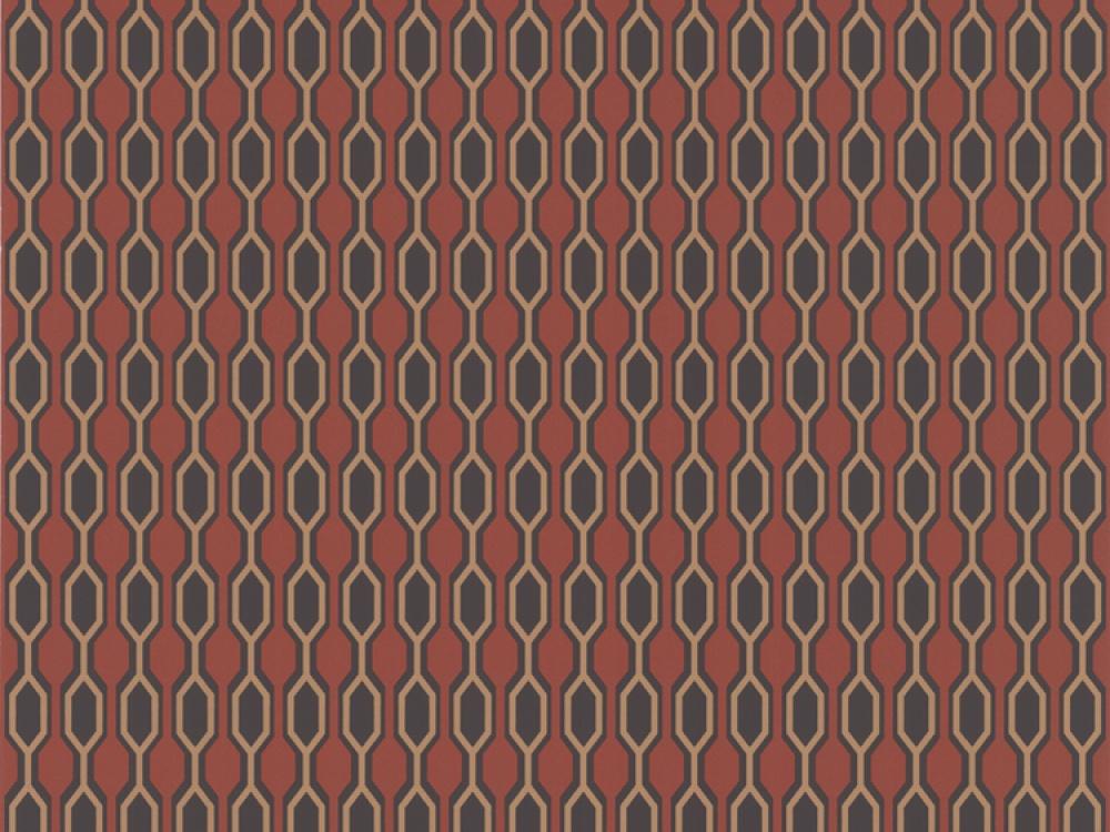 Delivery on Kelly Hoppen Hicks Geometric Orange Gold Wallpaper 1000x750