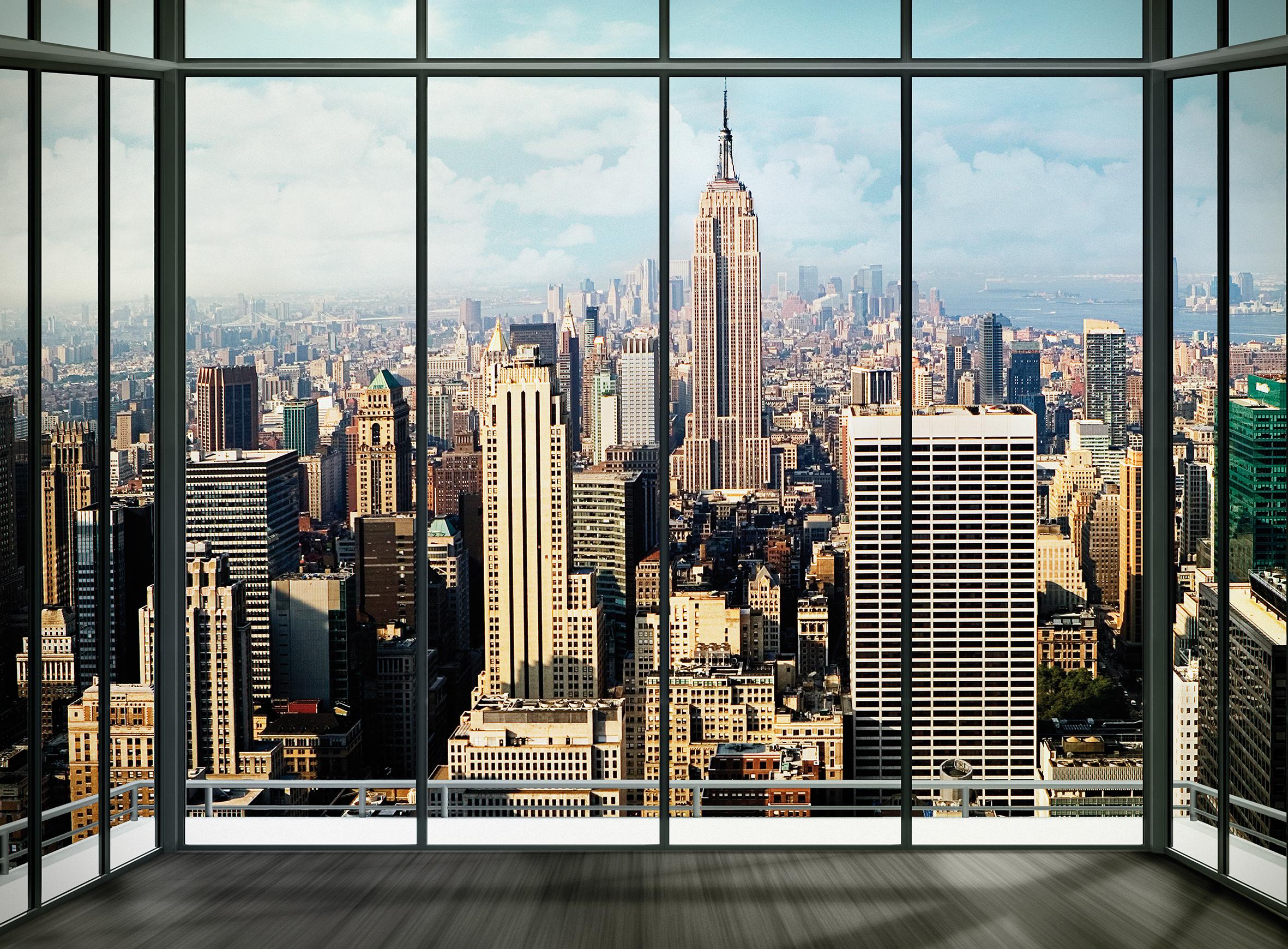 Wall Mural New York Skyline Window Wallsorts 2362x1740