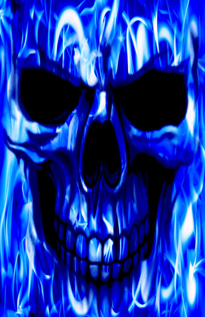 Ghost Rider In Blue Flame by dreamwarrior84 719x1111