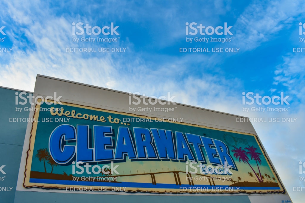 Clearwater Beach Florida January 25 2019 Colorful Welcome To 1024x682