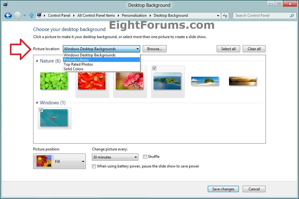 Desktop wallpaper windows 7 location