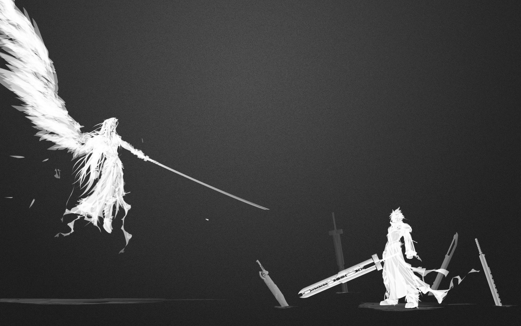 Fantasy Wallpaper 1680x1050 Final Fantasy VII Sephiroth Cloud 1680x1050