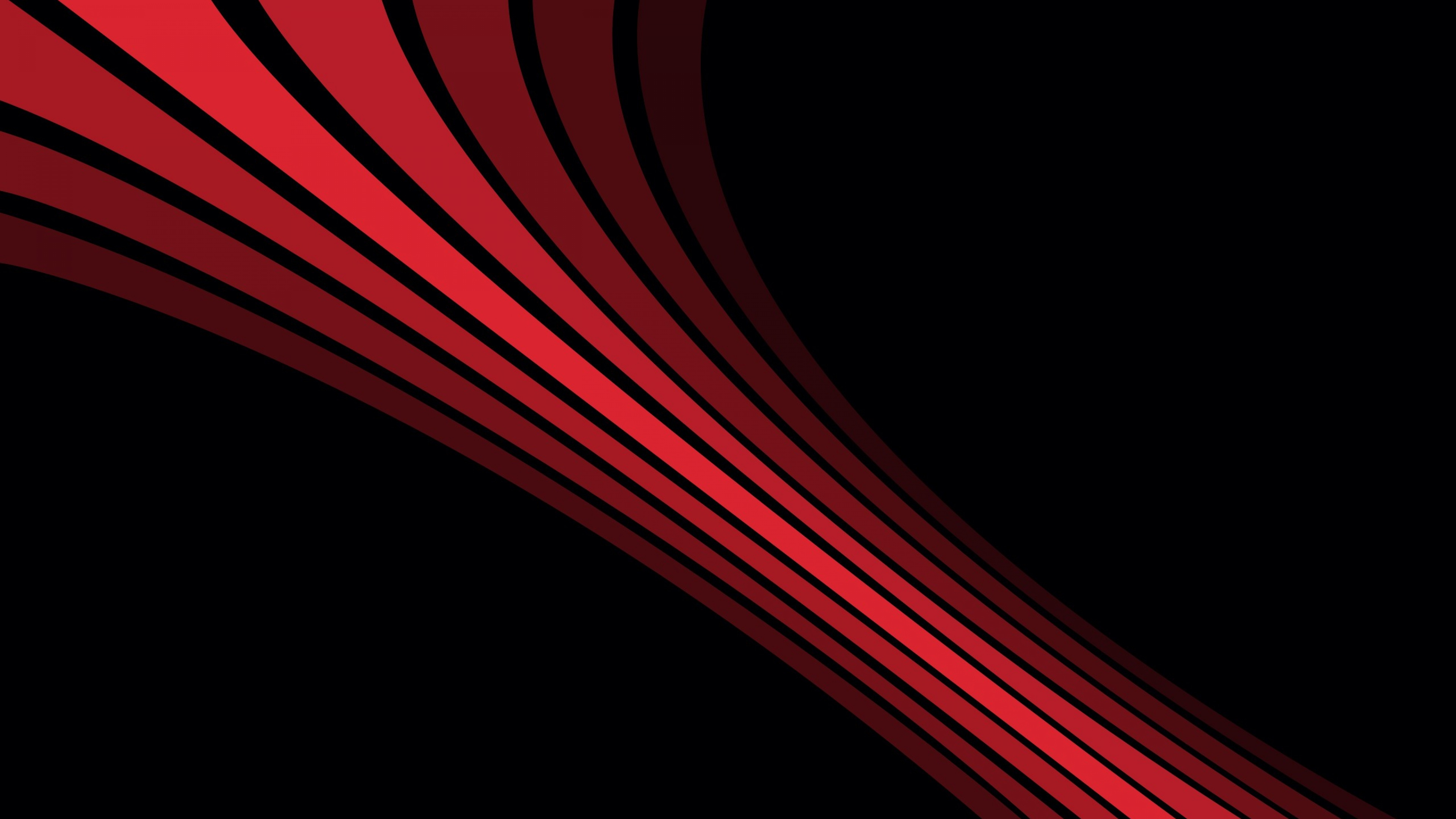 Shadow Stripes Shape Black Red Wallpaper Background 4K Ultra HD 3840x2160