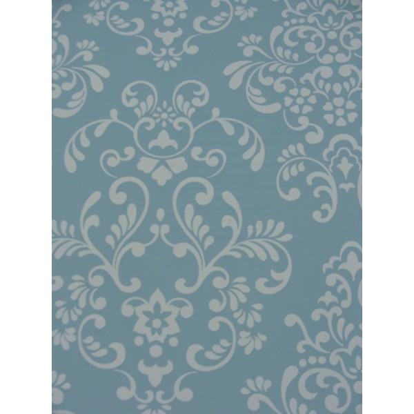Blue White Damask Print Wallpaper   Wallpaper Brokers Melbourne 600x600