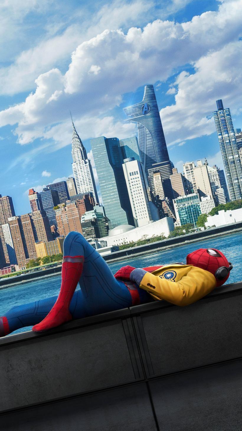 Spider Man Homecoming 2017 Phone Wallpaper Stuff Pozad v 820x1459