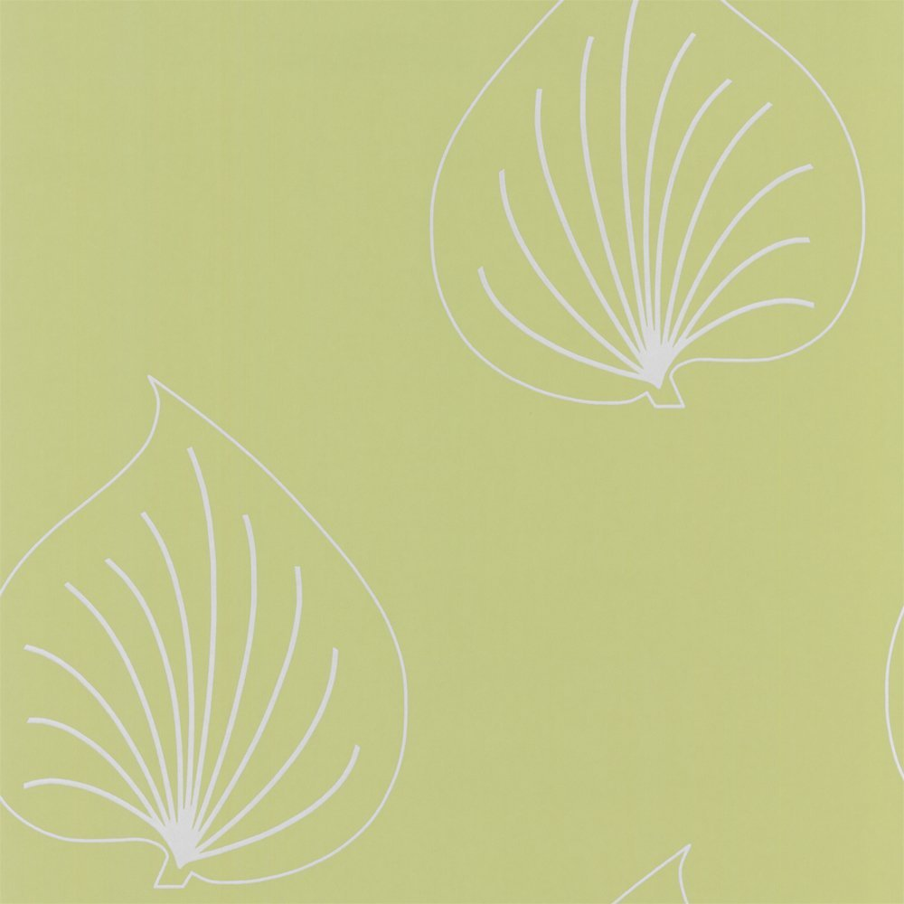 Selection Graphic Leaf Designer Feature Wallpaper Green Light Grey 1000x1000