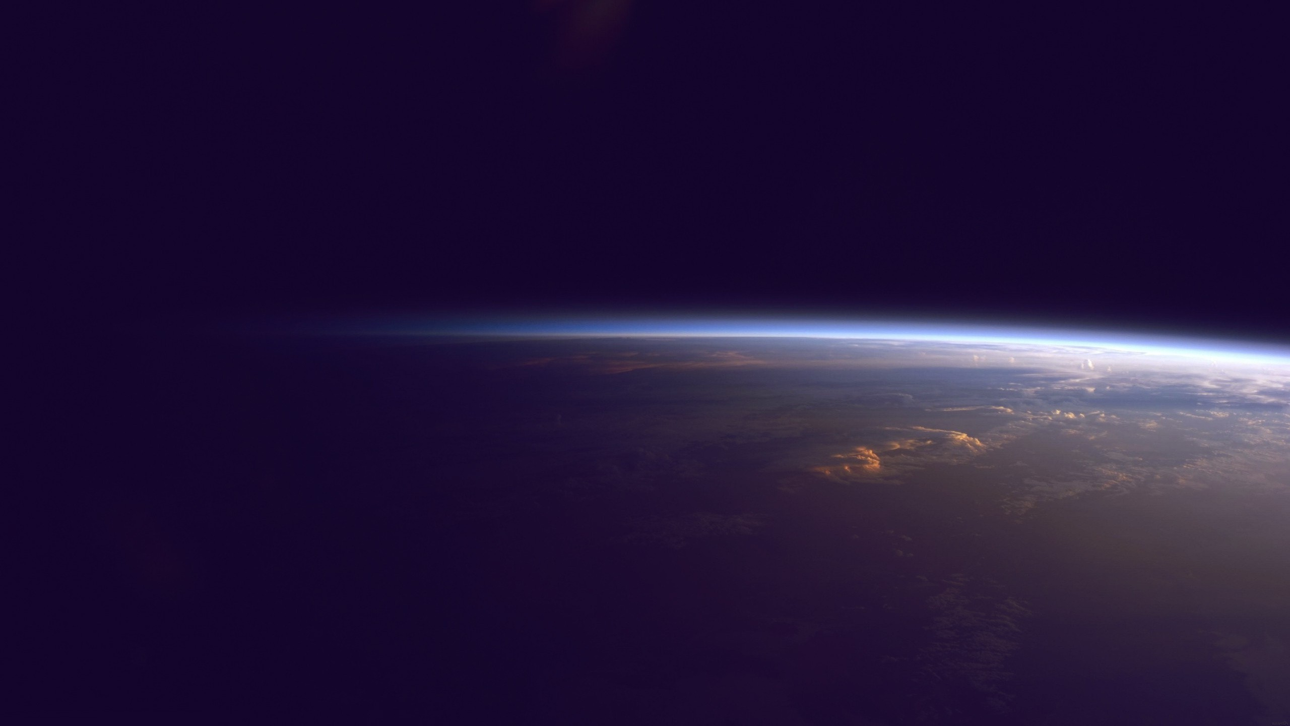2560x1440 Earth Horizon from Outer Space YouTube Channel Cover 2560x1440