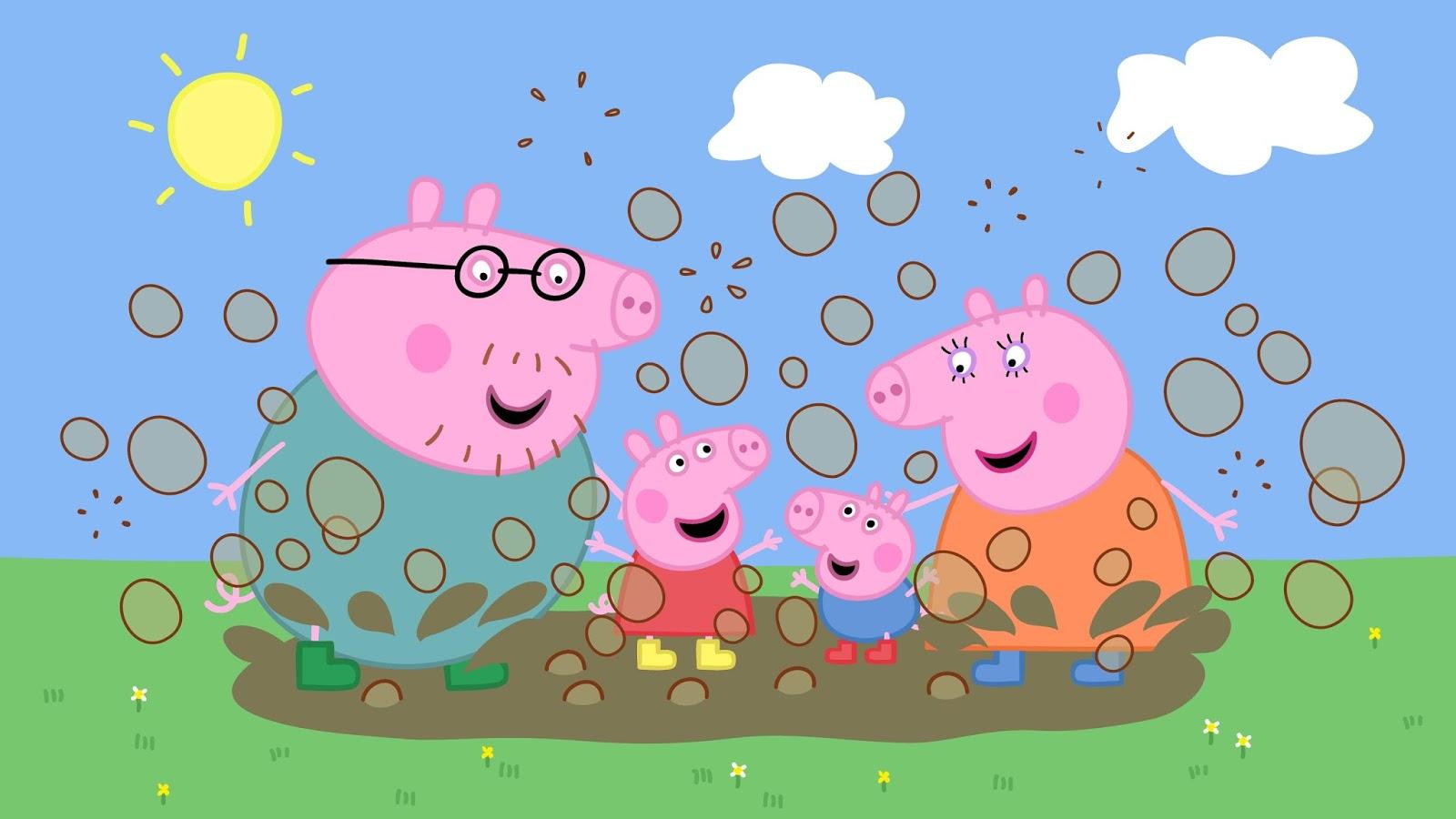 48 peppa pig hd wallpaper on wallpapersafari - Pig wallpaper cartoon pig ...