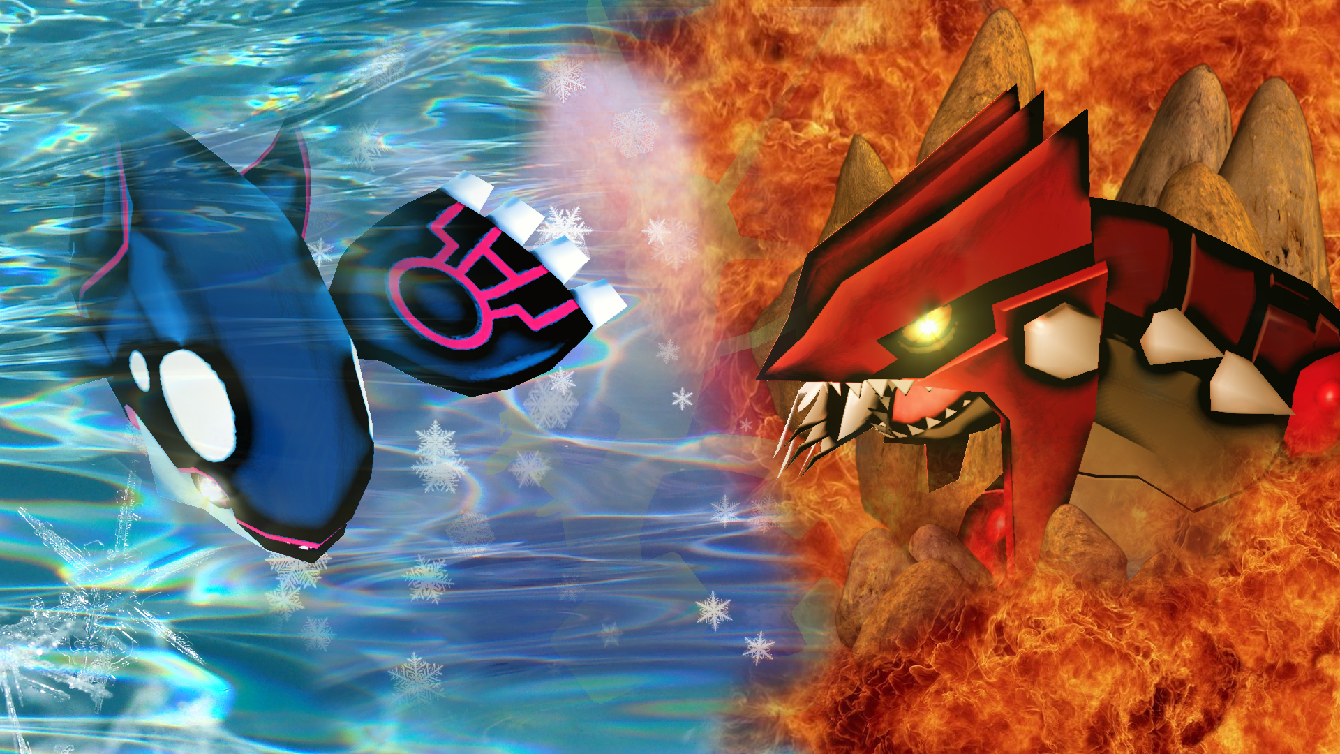 Primal groudon and kyogre wallpaper wallpapersafari - Pictures of groudon and kyogre ...