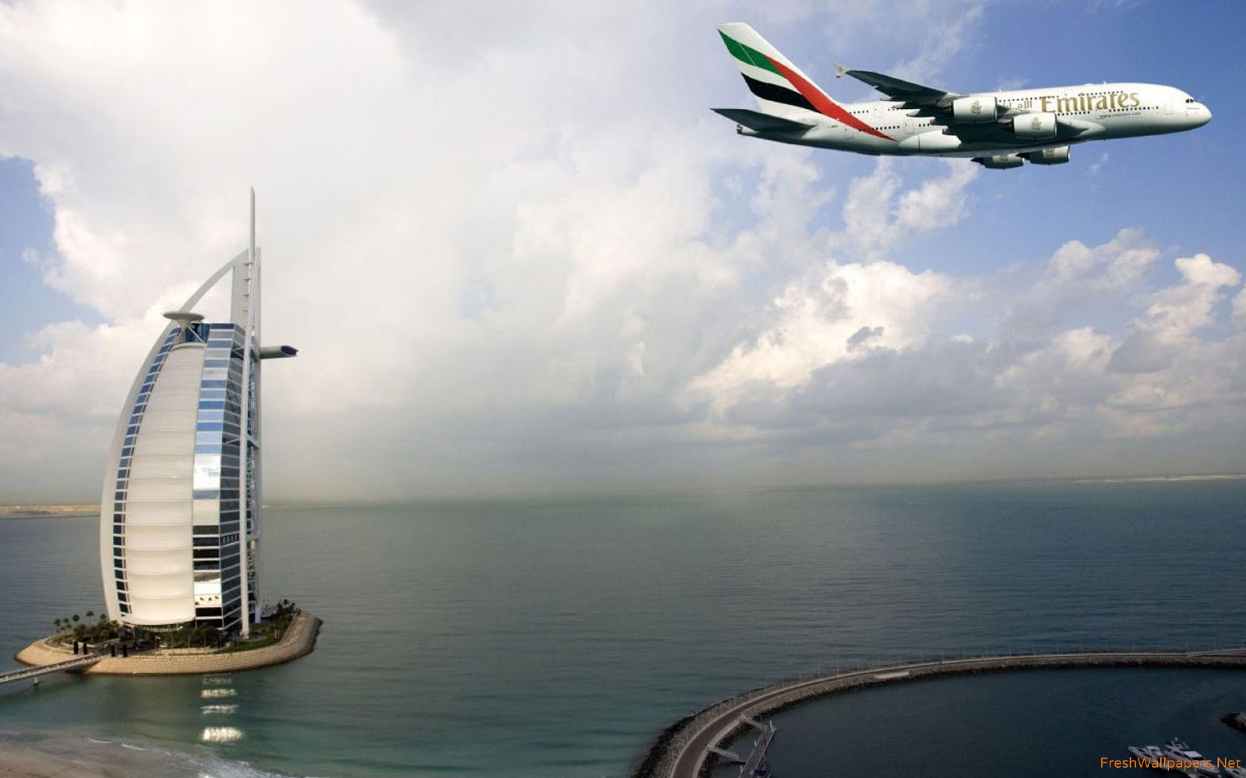 Emirates Dubai Burj Al Arab wallpapers Freshwallpapers 2560x1600