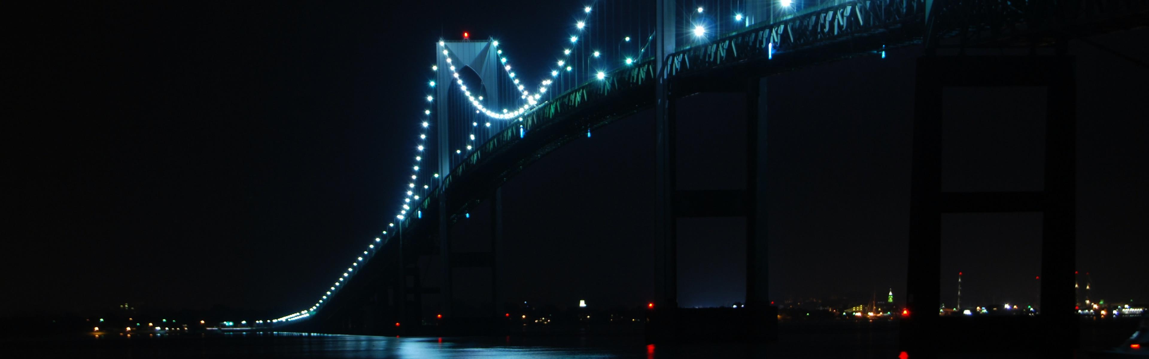 Newport Bridge Rhode Island iPhone Panoramic Wallpaper Download iPad 3840x1200