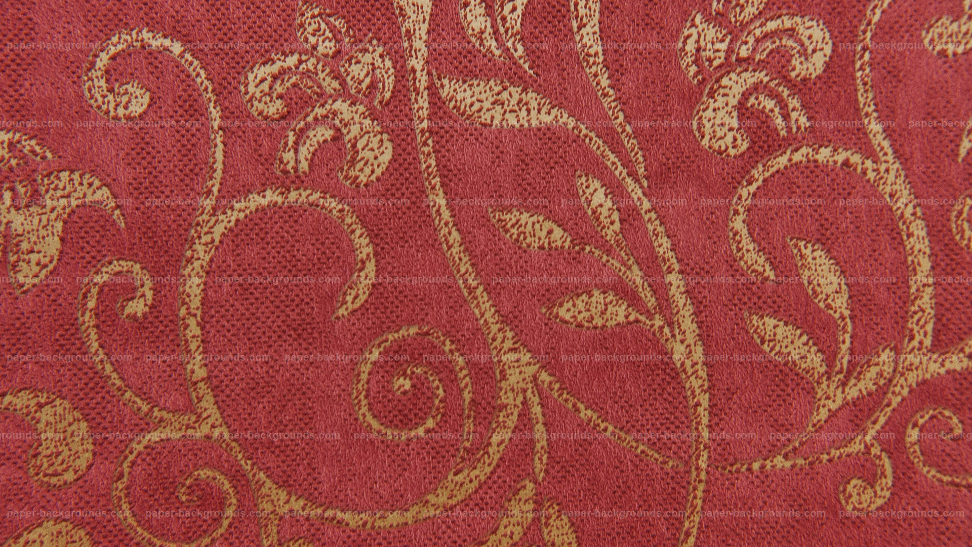 Red Carpet Floral Design Texture Background Paper Backgrounds 1920x1080