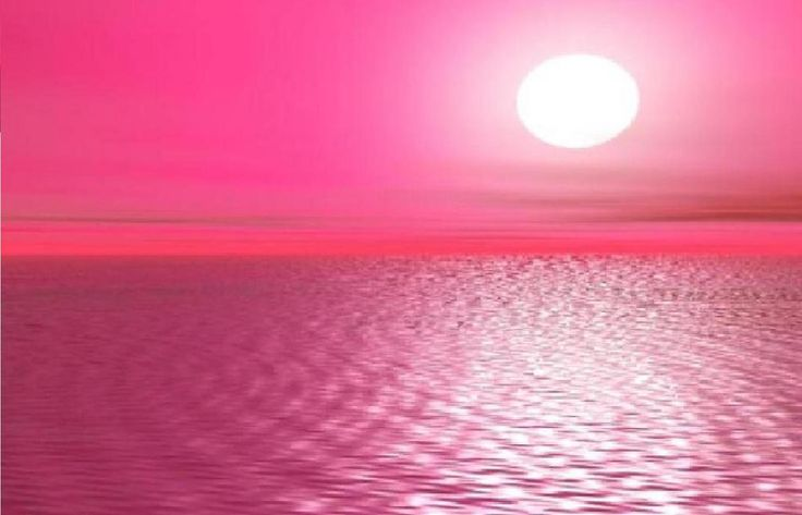 is the great pretty pink moon sea Wallpaper Background Picture 736x473