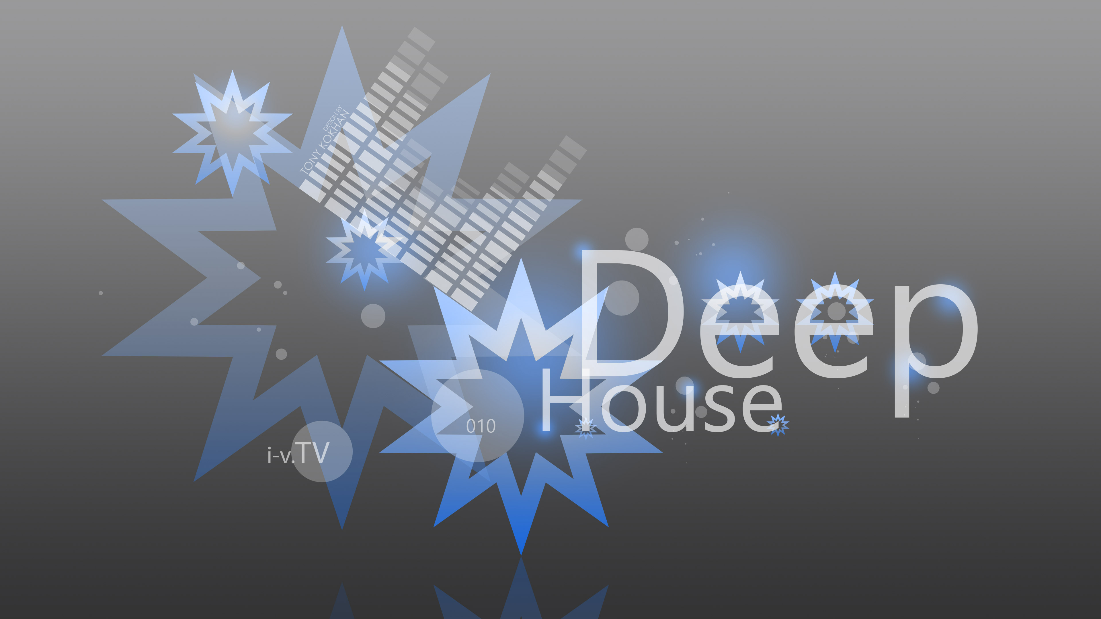 Deep House Music eQ Simple Creative Ten Abstract Words 3840x2160