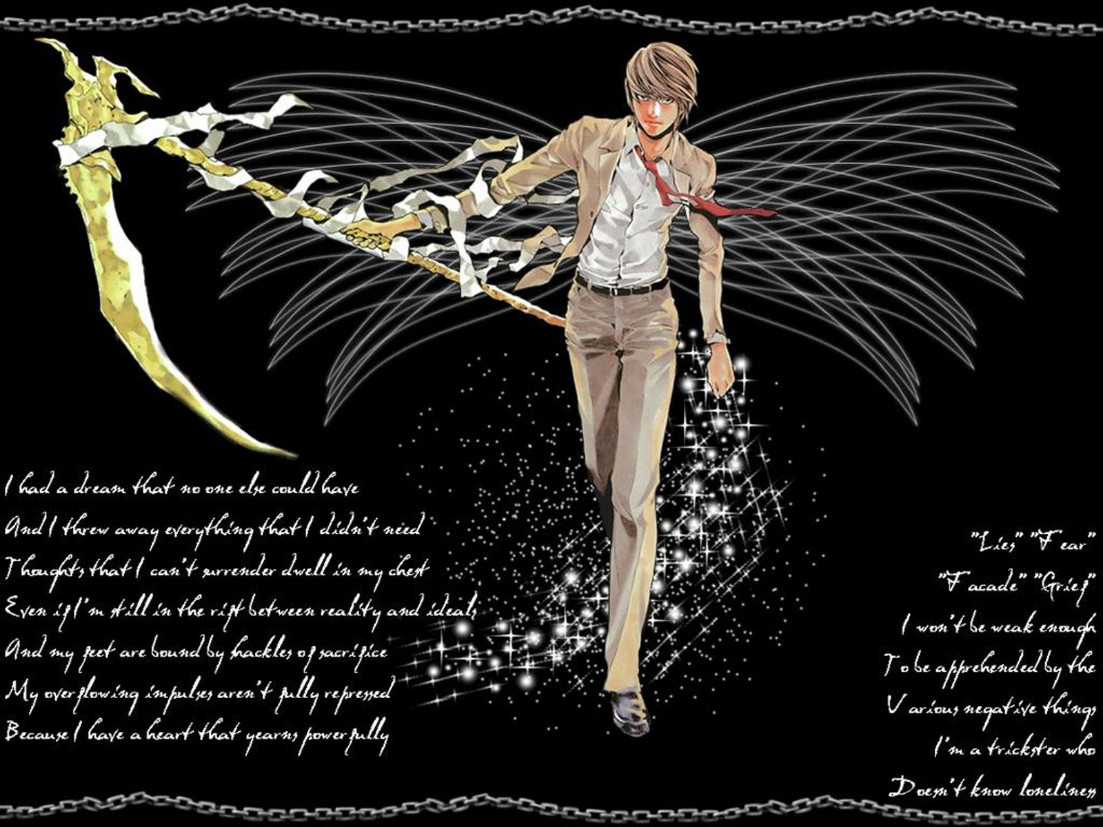 Light Yagami Wallpaper WallpapersDeath Note Wallpapers Pictures 1600x1200