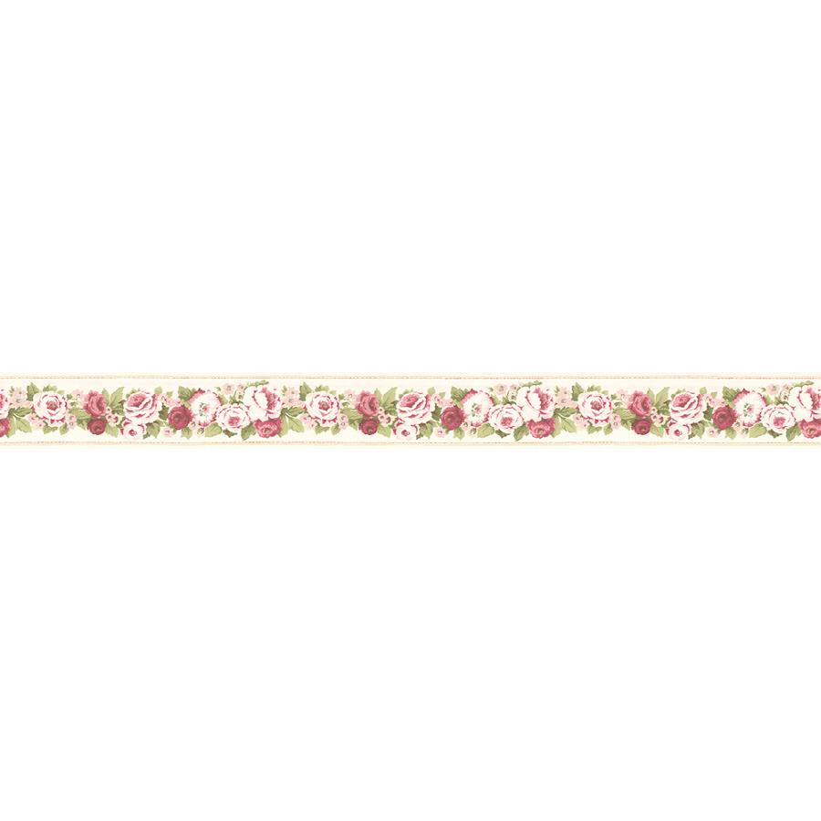 Shop Norwall 3 Rose Ribbon Prepasted Wallpaper Border at Lowescom 900x900