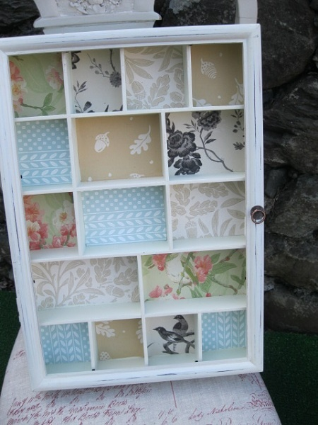 Wallpaper samples put to good use in my shop displays Crafts 450x600