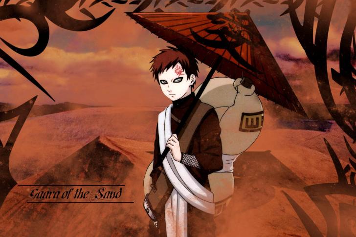 Gaara Naruto Manga Wallpaper for Android iPhone and iPad 728x485