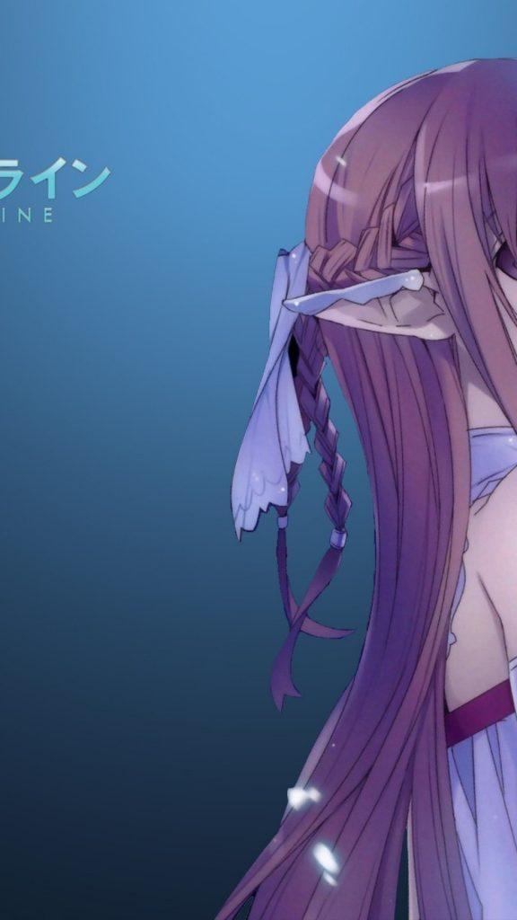 Yuuki Asuna Sword Art Online Profile View Long   Pointed Ears Girl 576x1024