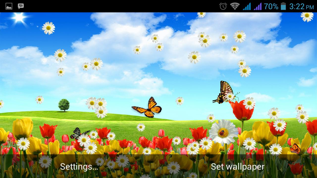 Live Spring Flowers Wallpaper Download Wallpapersafari