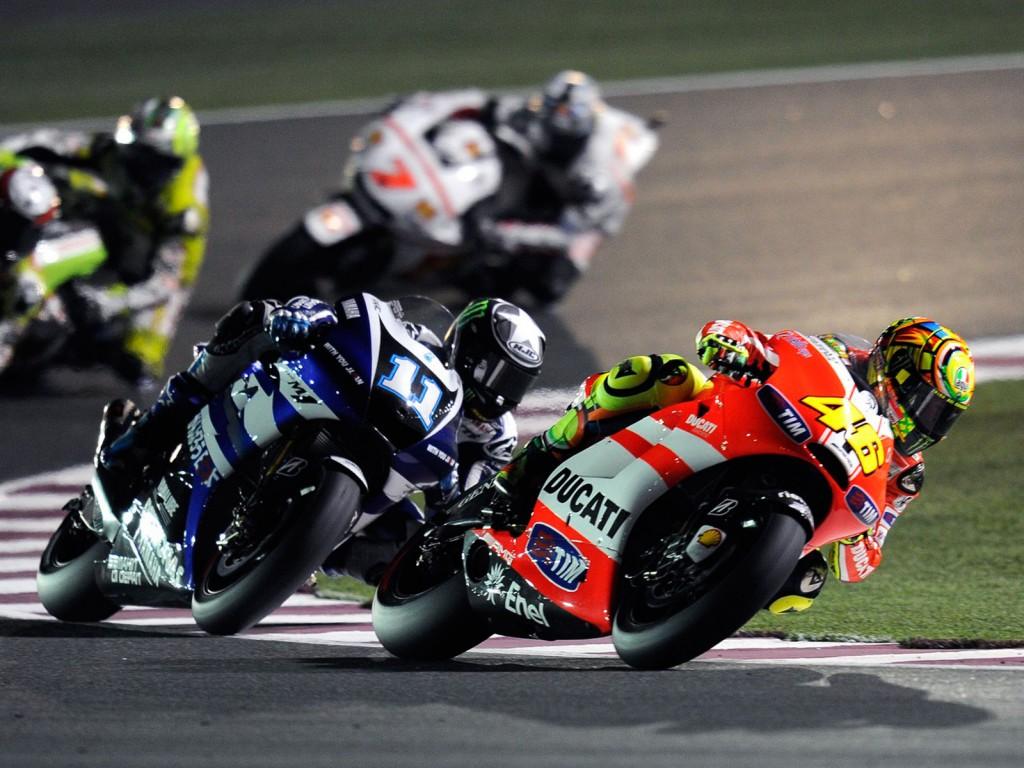 Sports Bike MotoGP On The Race Wallpapers 1024x768