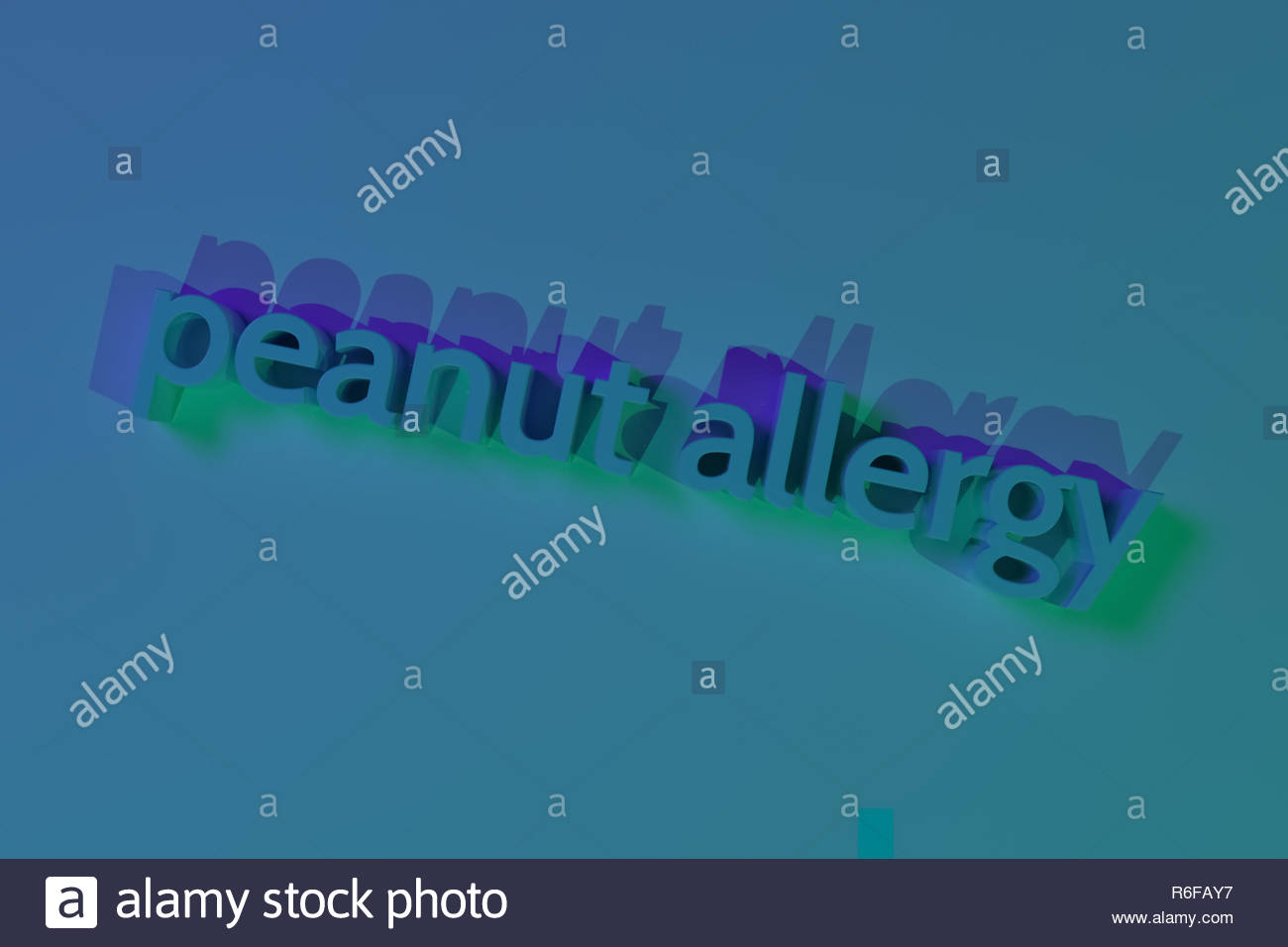 Peanut allergy keywords CGI typography For web page wallpaper 1300x956