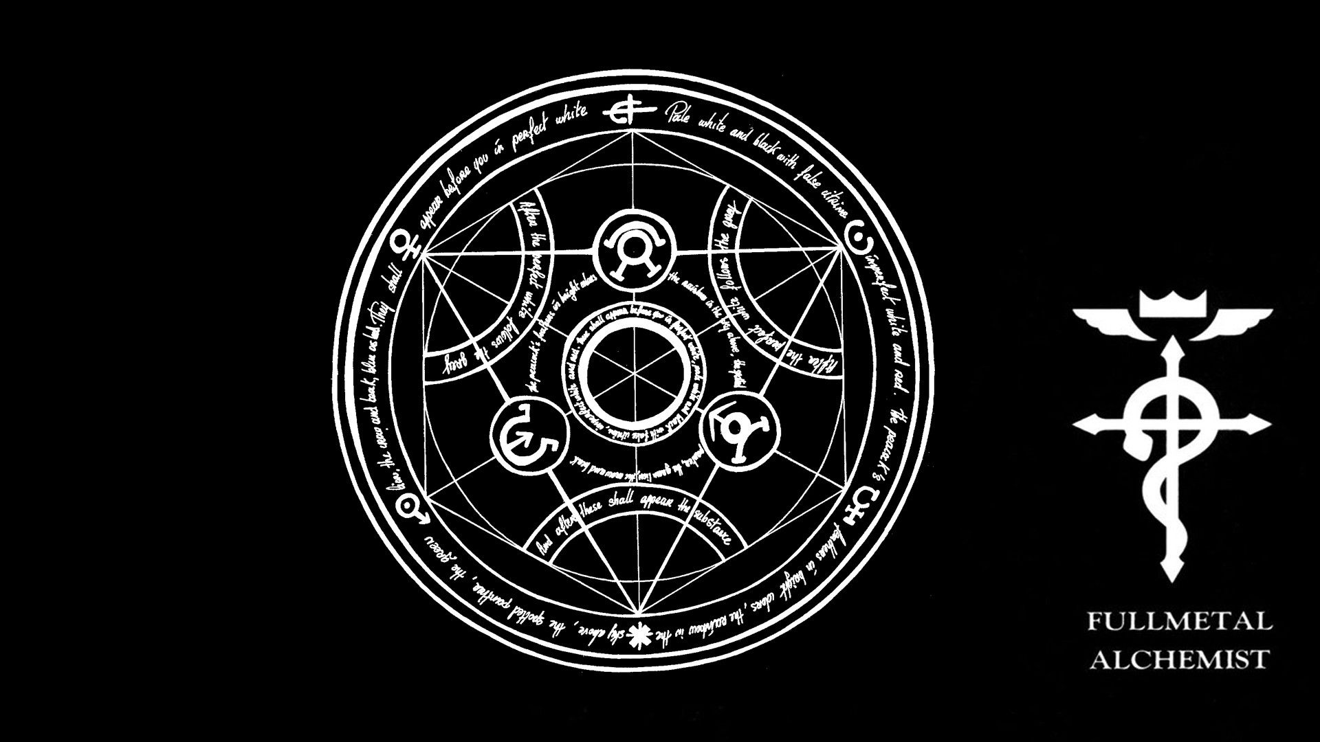 Wallpapers For Fullmetal Alchemist Wallpaper Logo 1920x1080